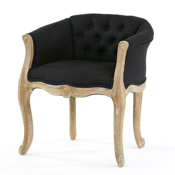 Cabriole Elizabeth Chair Black