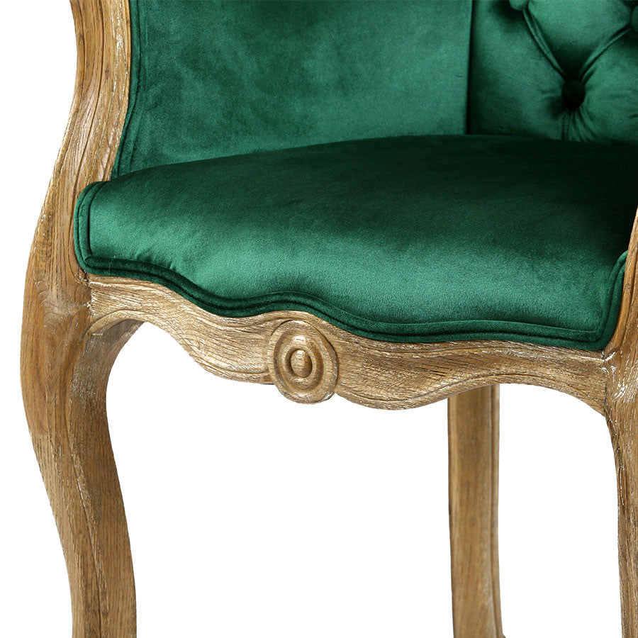 Cabriole Elizabeth Chair Emerald Black Mango
