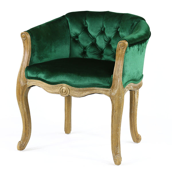 Cabriole Elizabeth Chair Emerald - Black Mango