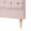 Charlotte Chesterfield Bedhead Double Size Dusty Pink - Black Mango