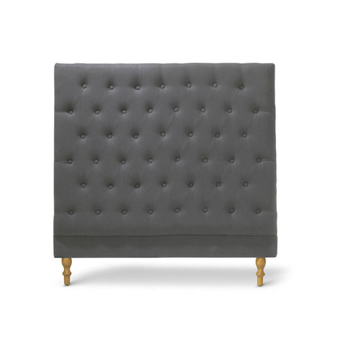 Charlotte Chesterfield Bedhead King Single Size Charcoal - Black Mango