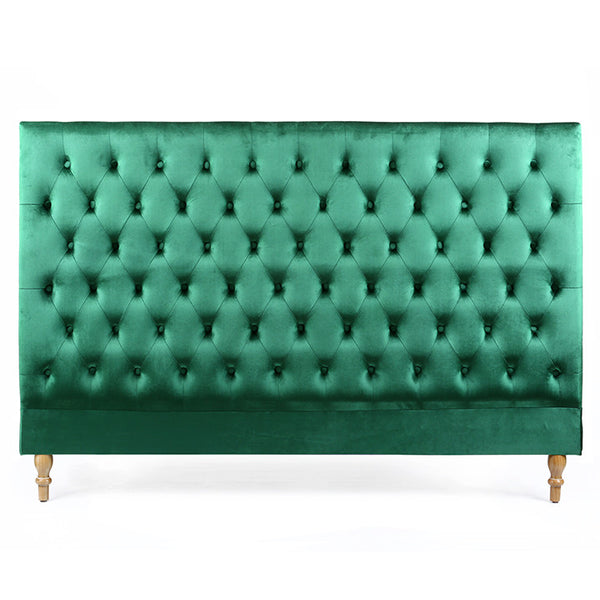 Charlotte Chesterfield Bedhead King Size Emerald - Black Mango