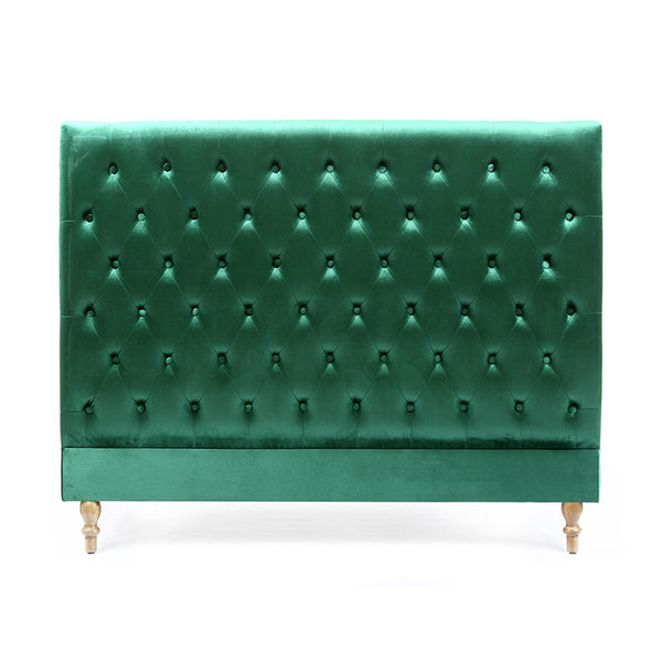 Charlotte Chesterfield Bedhead Queen Size Emerald - Black Mango