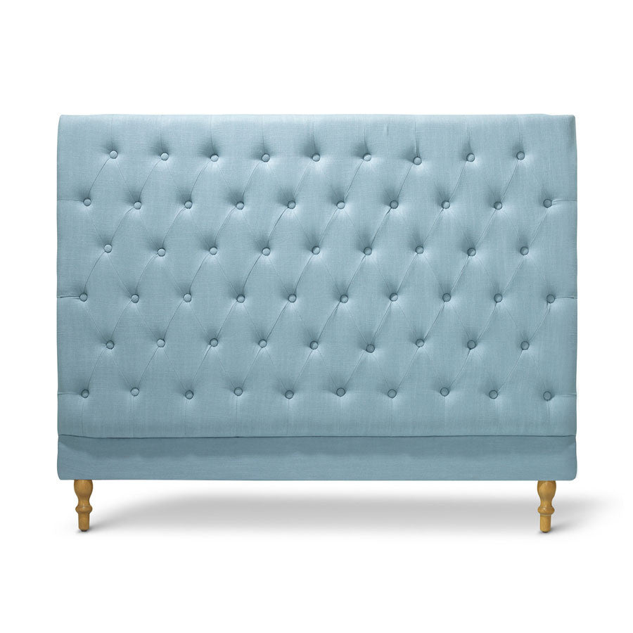 Charlotte Chesterfield Bedhead Queen Size Teal Black Mango