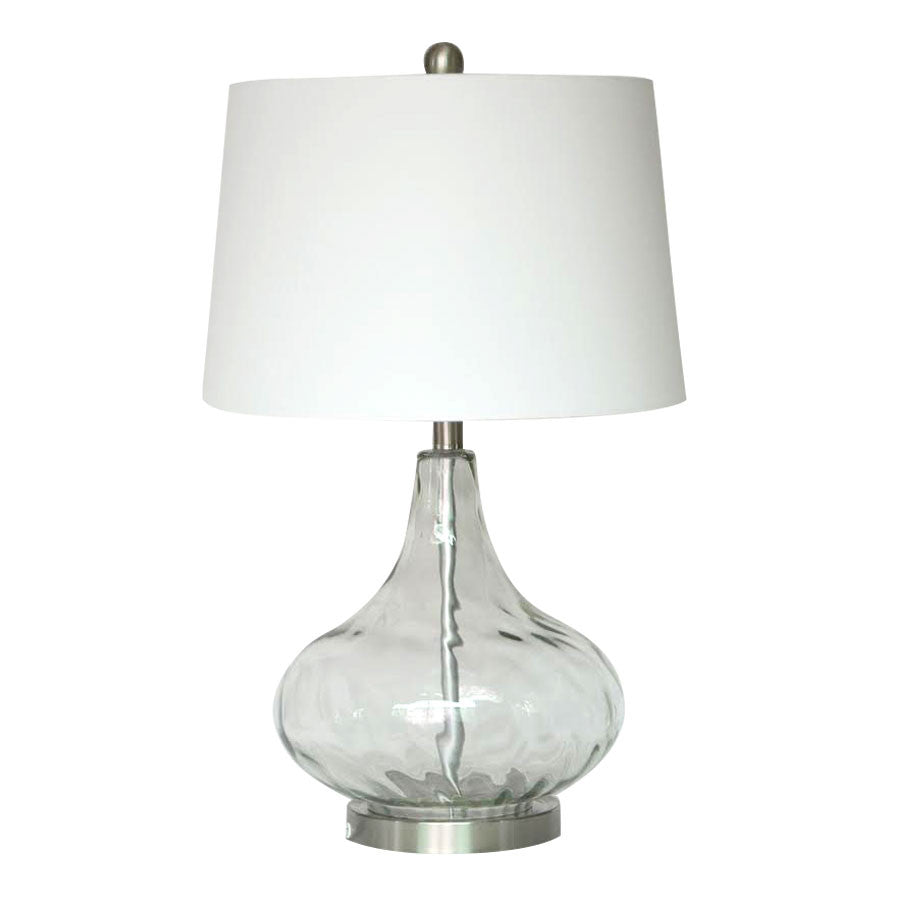 Dew Drop Glass Table Lamp Clear
