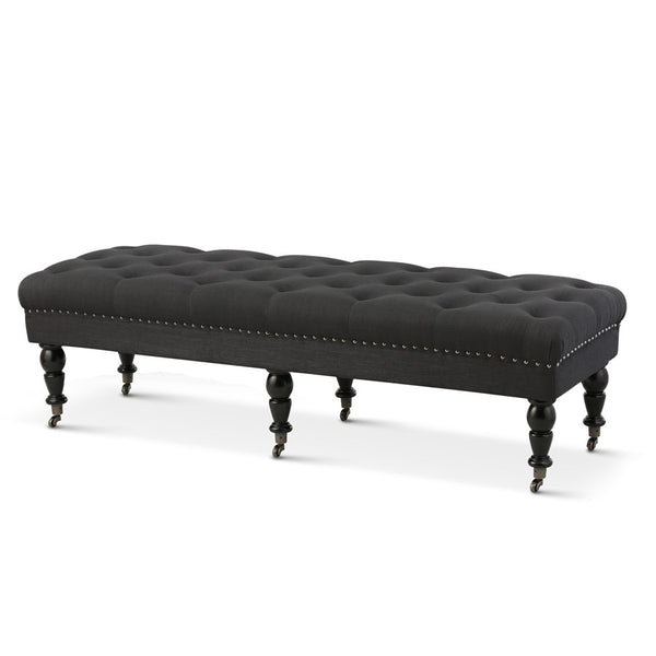 Emilie Dressing Bench Black - Black Mango
