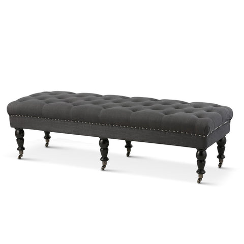 Emilie Dressing Bench Charcoal - Black Mango