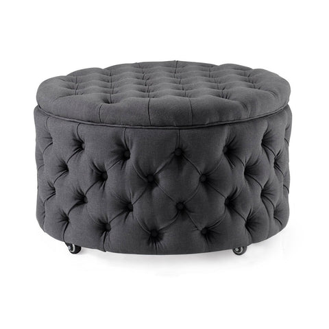 Emma Storage Ottoman Large 75cm Charcoal