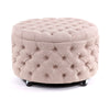 Emma Storage Ottoman Large 75cm Dusty Pink - Black Mango