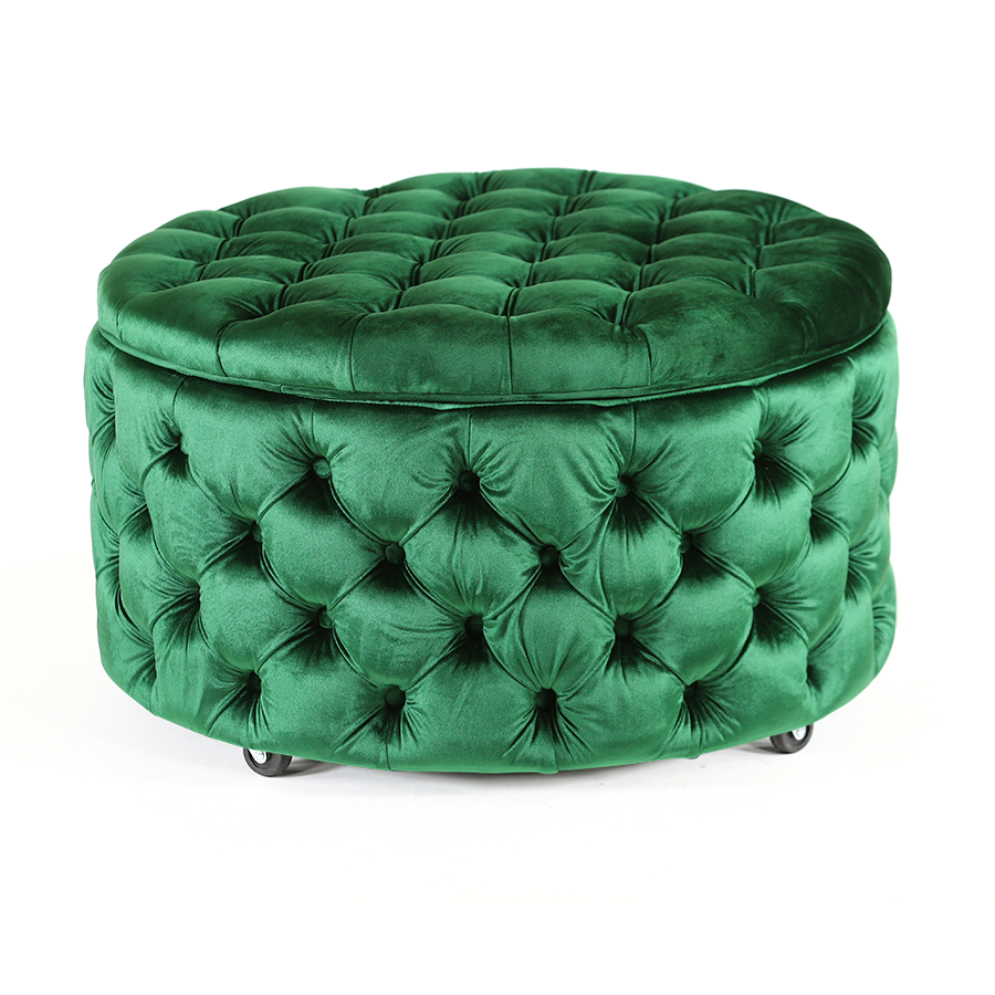 Emma Storage Ottoman Large 75cm Emerald