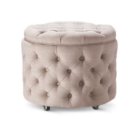Emma Storage Ottoman Small Latte - Black Mango