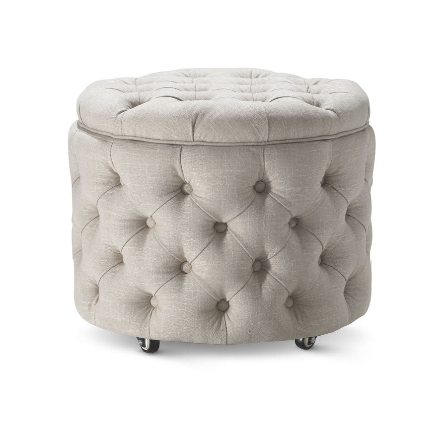 emma small storage ottoman in taupe black mango. Black Bedroom Furniture Sets. Home Design Ideas