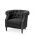 Esther Tub Chair Black - Black Mango