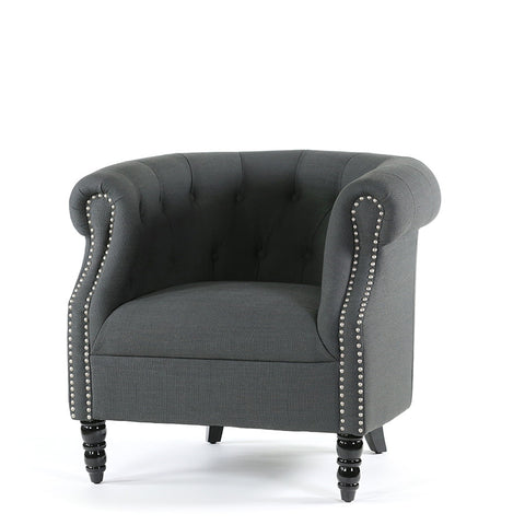 Esther Tub Chair Charcoal Black Mango