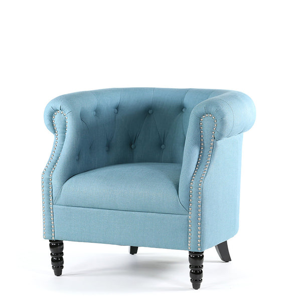 Esther Tub Chair Teal - Black Mango