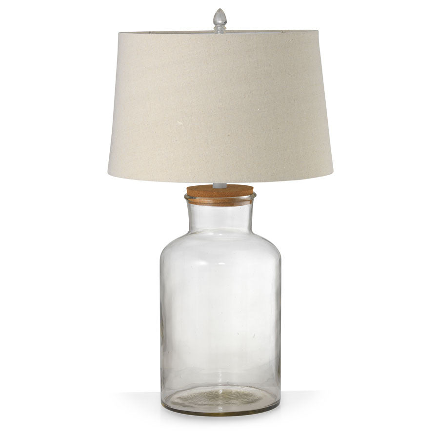 Fillable Jar Lamp With Oatmeal Shade Large 72cm - Black Mango