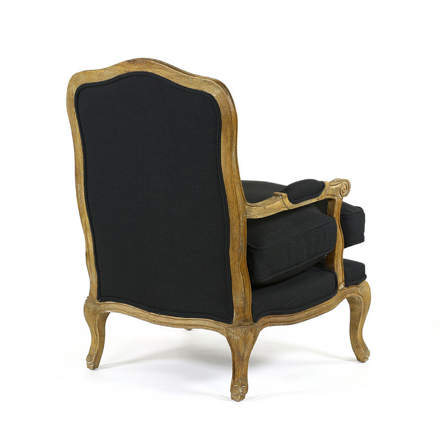 ... French Provincial Adele Occasional Chair Black   Black Mango ...