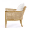 Hampton Club Chair Light Oak - Black Mango