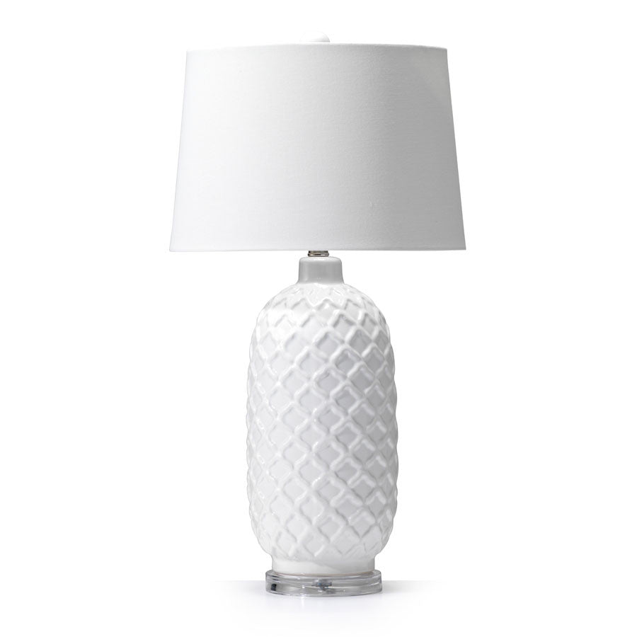 morocco white ceramic table lamp black mango. Black Bedroom Furniture Sets. Home Design Ideas