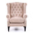 Royale Wingback Arm Chair Dusty Pink - Black Mango