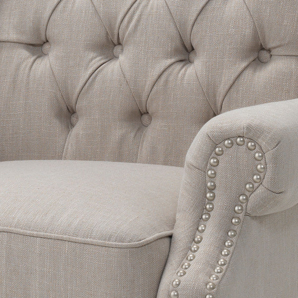 Royale Wingback Arm Chair Taupe Black Mango