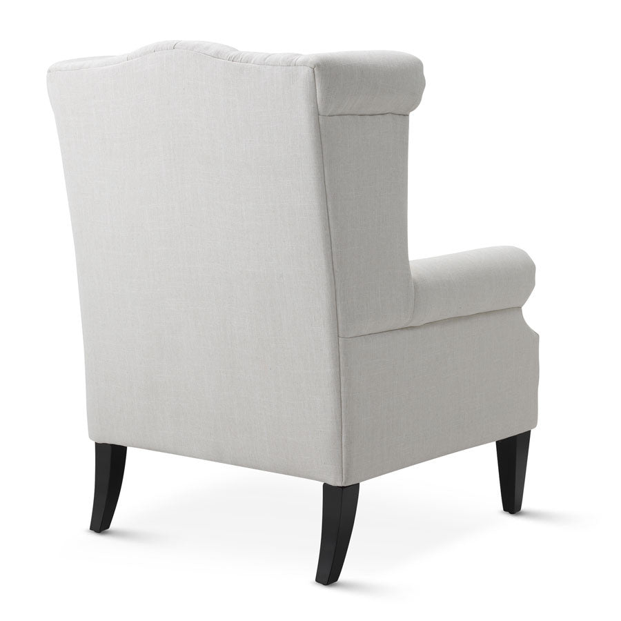 Linen White Royale Wingback Arm Chair Black Mango : royale wingback arm chair white BM0167 3 from www.blackmango.com.au size 900 x 900 jpeg 32kB