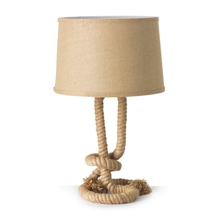 Sea Rope Twist Table Lamp - Black Mango