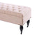 Sophie Storage Dressing Bench 148cm Dusty Pink - Black Mango