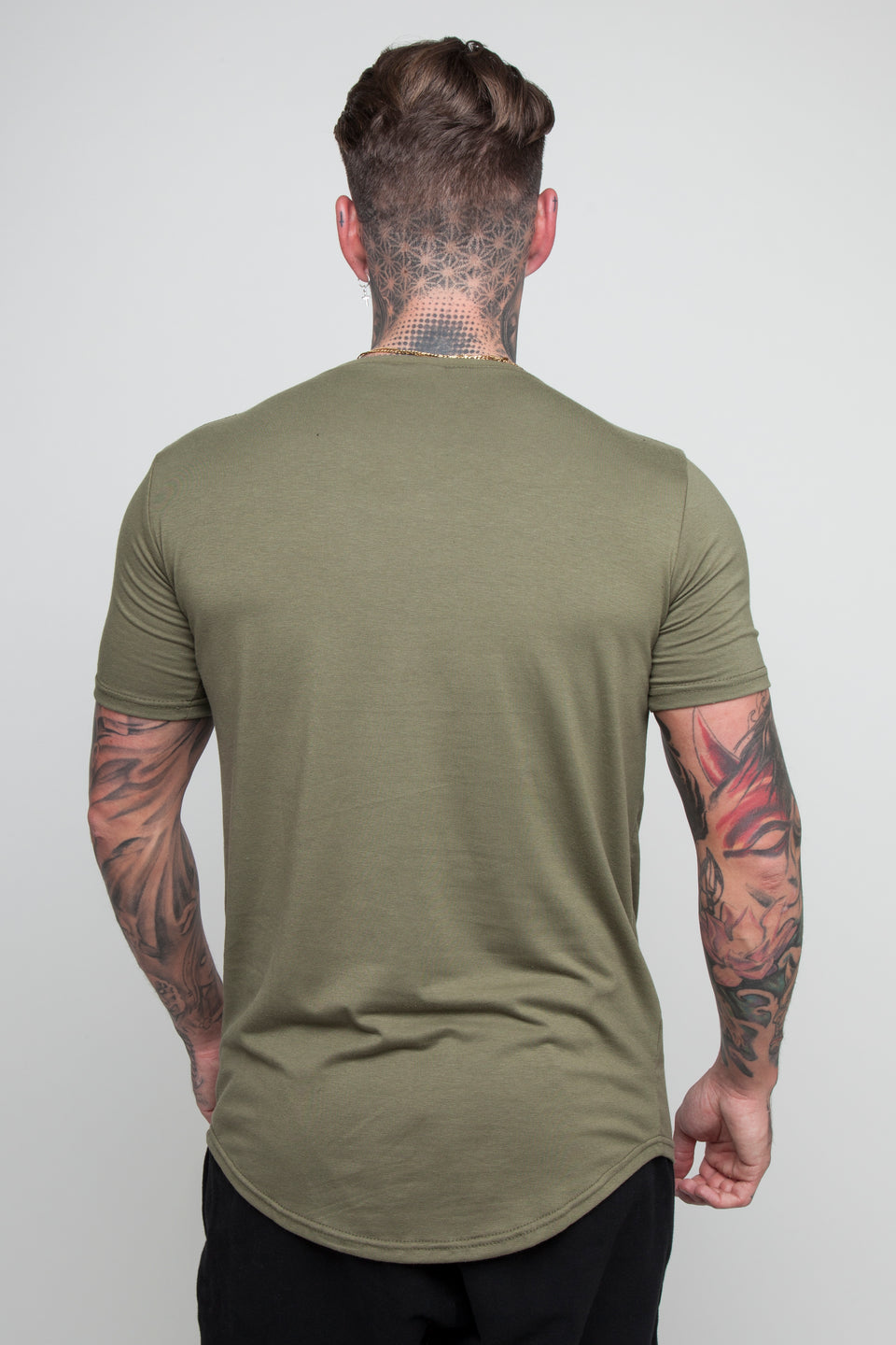 Vypex® Creed Fitted Men's Gym T-Shirt In Khaki Green