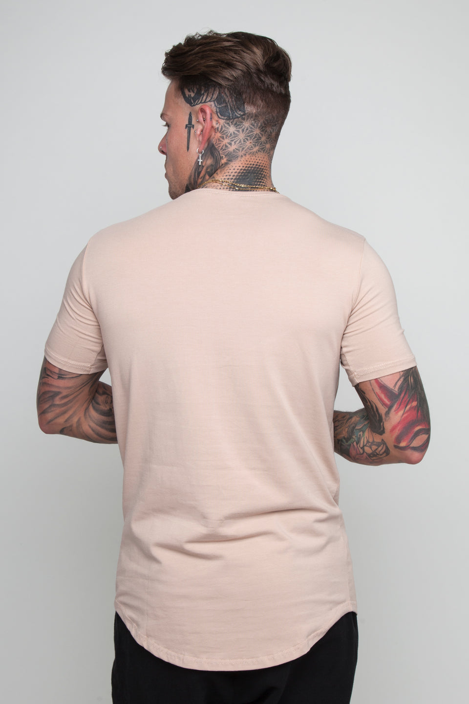 Vypex® Power Fitted Men's Gym T-Shirt In Sand Beige
