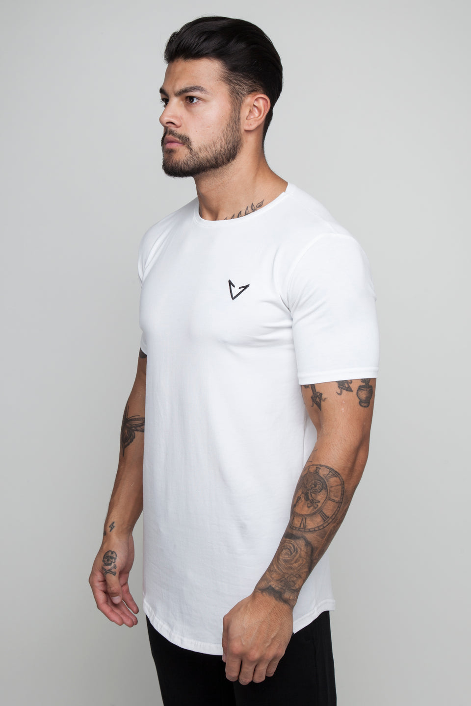 Vypex® Power Fitted Tapered Men's Gym T-Shirt In White