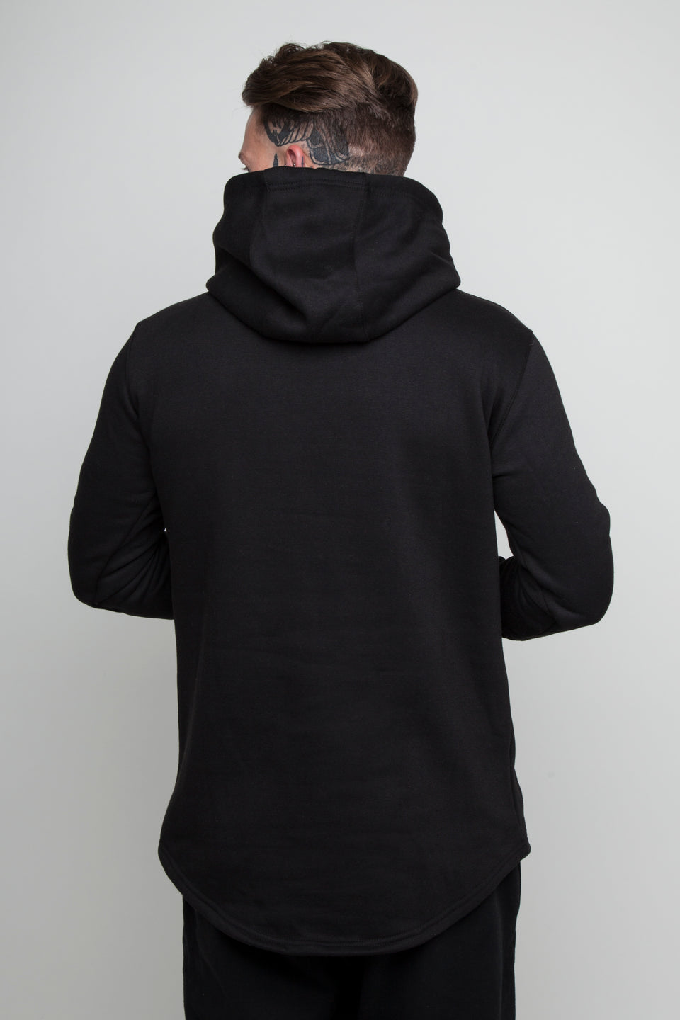 Vypex creed black fitted mens gym hoodie