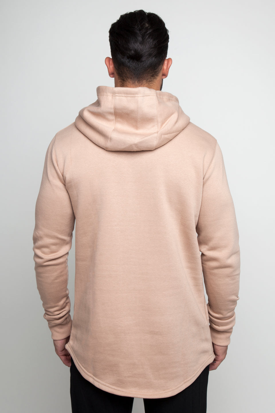 Vypex creed fitted mens gym hoodie in sand beige