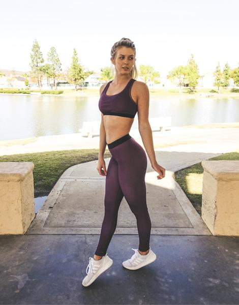 Vypex® Divine Leggings & Sports Bra Set - Purple