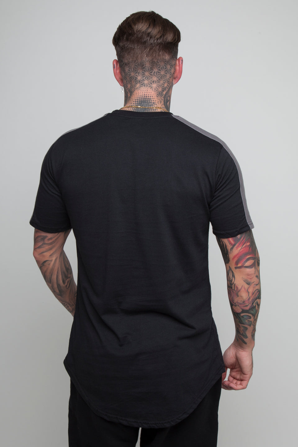 Vypex® Force Tapered Men's Fitted T-Shirt In Black And Grey