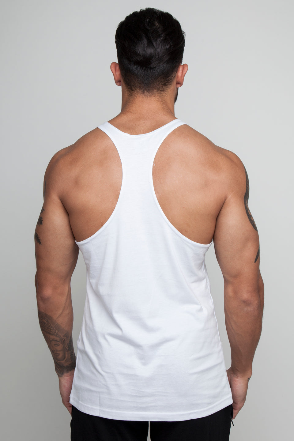 Vypex® Small Emblem Men's Gym Stringer Vest In Astral White