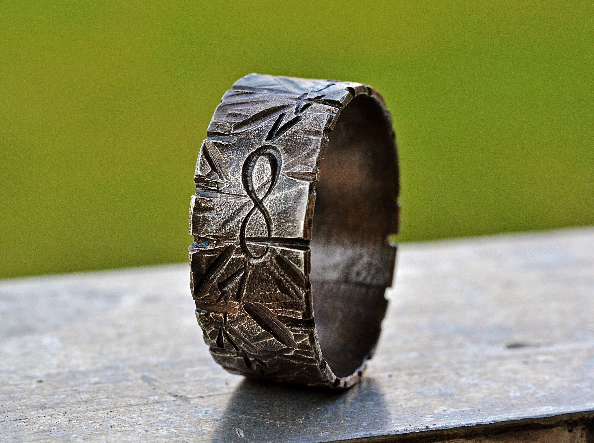 Silver Infinity Symbol Ring 38 Engraved Silver Promise Ring Arrows Mens Infinity Wedding Band Textured Blackened Silver Ring
