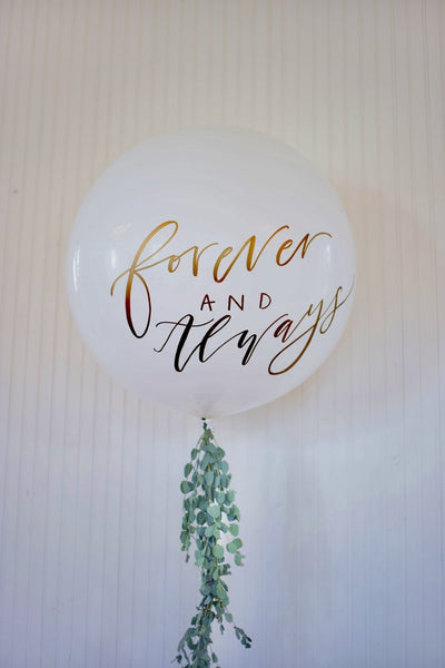 Hand Lettered Balloon
