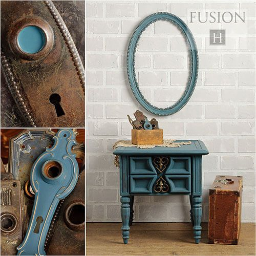 Fusion Mineral Paint- Homestead Blue - One More Time Vintage
