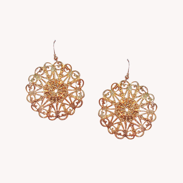 Large Round Filigree