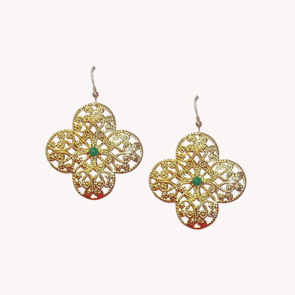 Single Flower Filigree with Stones
