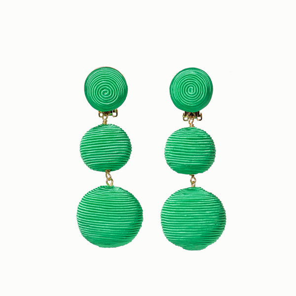 Pom Poms - 3 Drop Bright Green
