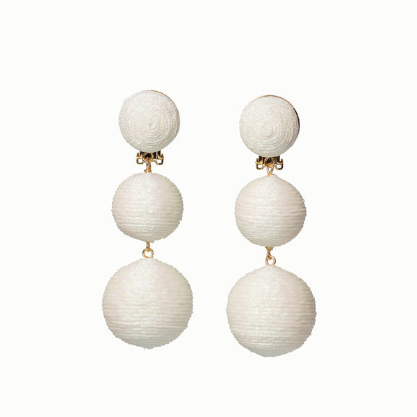 KEP Ball Drop Collection - 3 Drop Sparkle White