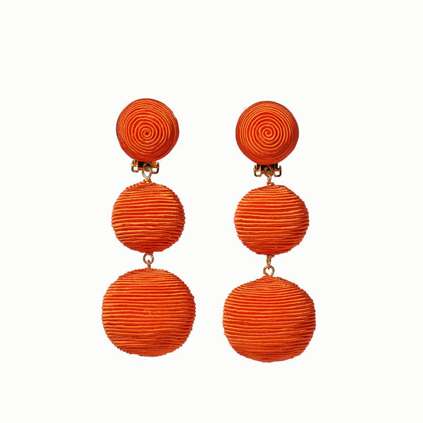 Pom Poms - 3 Drop Orange