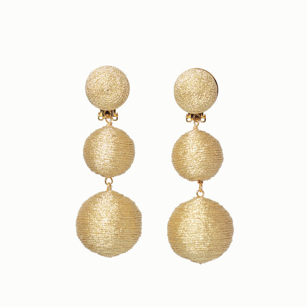KEP Ball Drop Collection - 3 Drop Sparkle Gold
