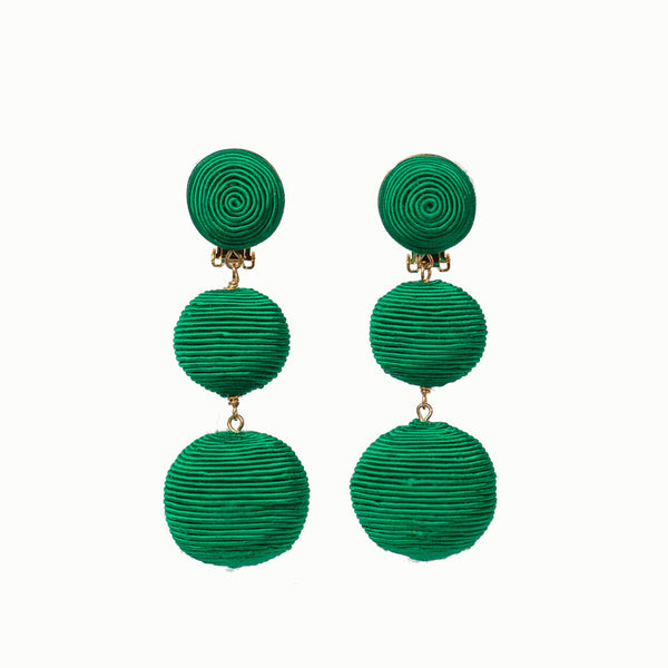 Pom Poms - 3 Drop Emerald Green