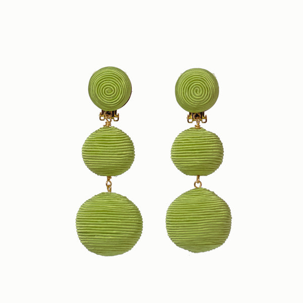 Pom Poms - 3 Drop Light Green