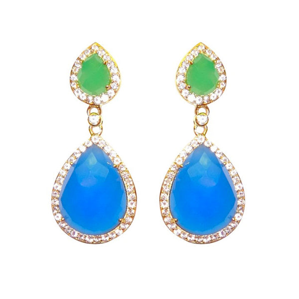 Double Teardrop Lapis and Chrysoprase