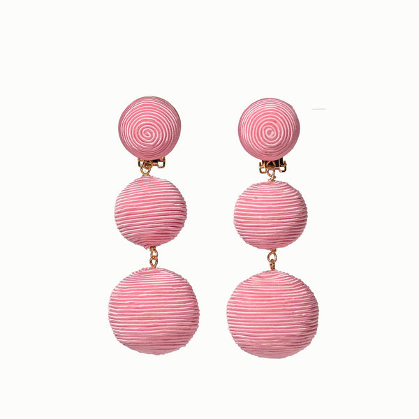 Pom Poms - 3 Drop Light PInk