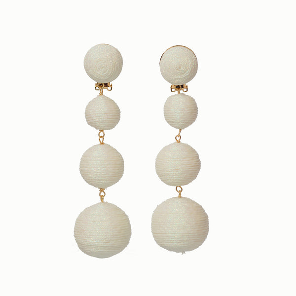 KEP Ball Drop Collection- 4 Drop Sparkle White